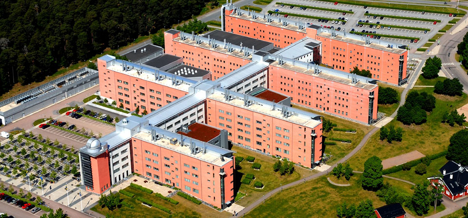 Aerial view of Ångström Laboratory