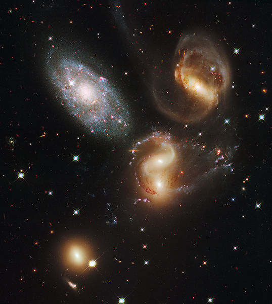 Different types of galaxies.